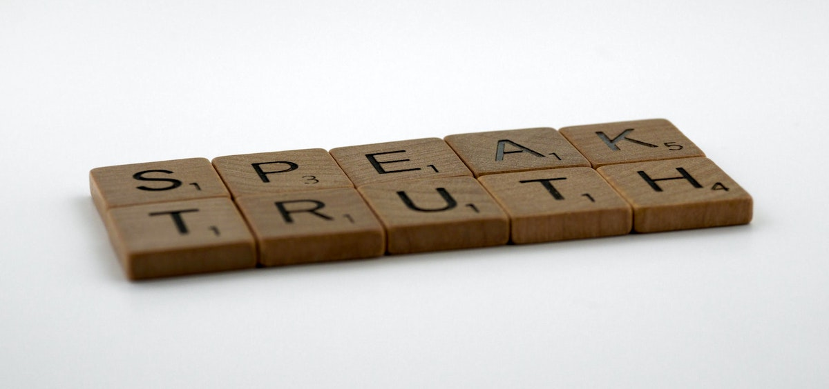 speak truth spelled out