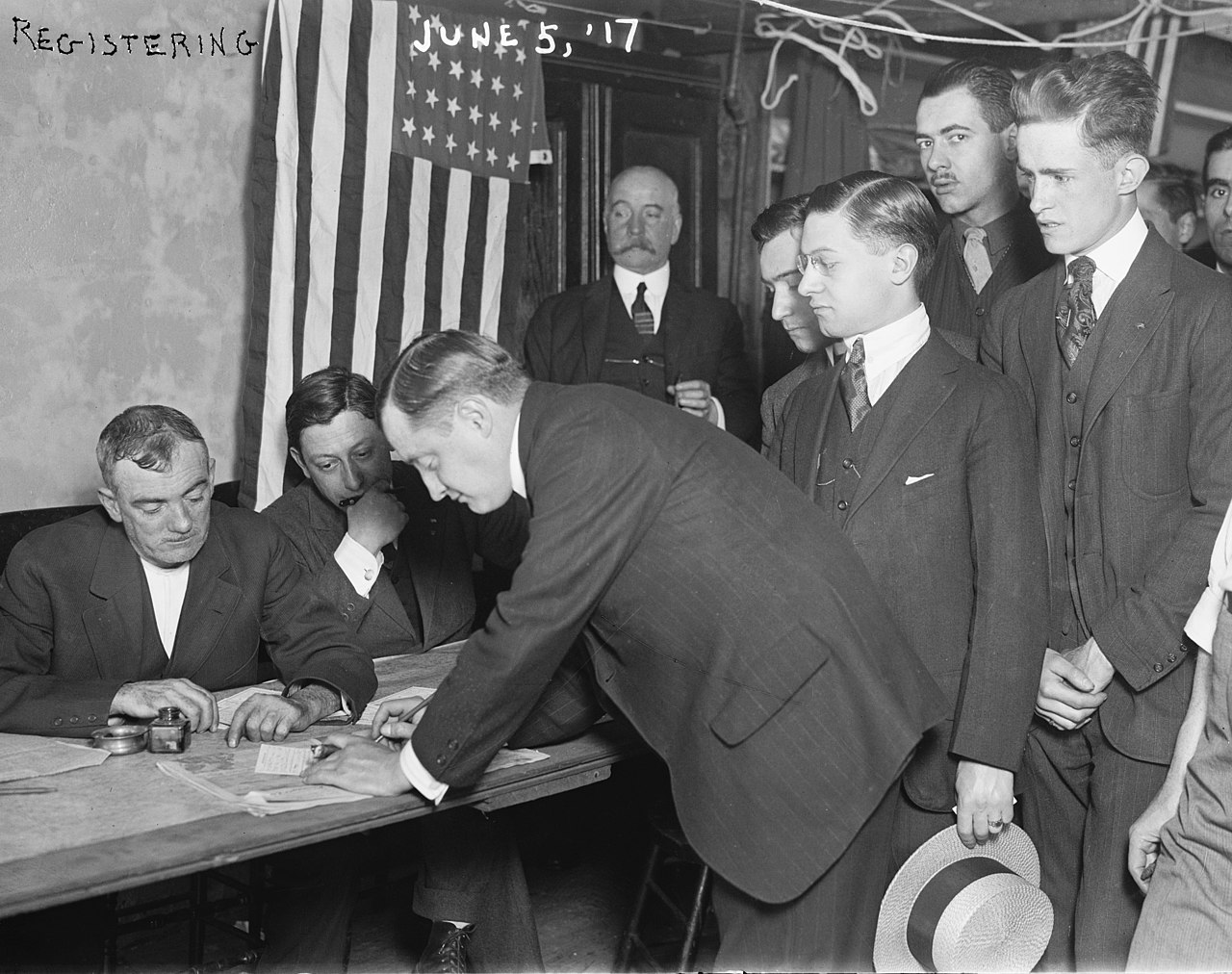 Military draft in New York in 1917